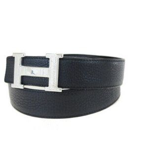 Auth Hermes Touareg Silver 925 N Stamp Belt